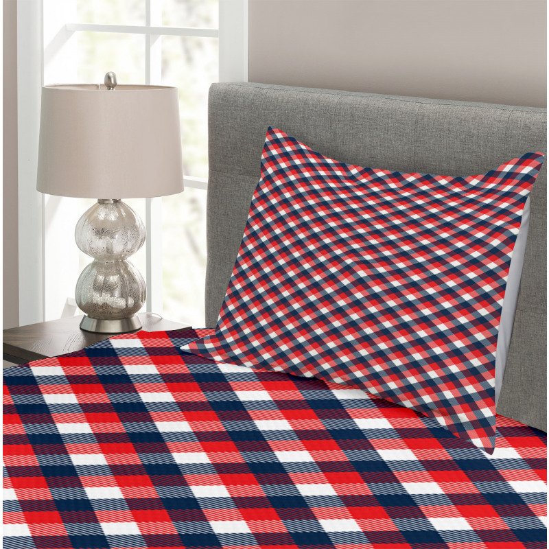 Checkered Gingham English Bedspread Set