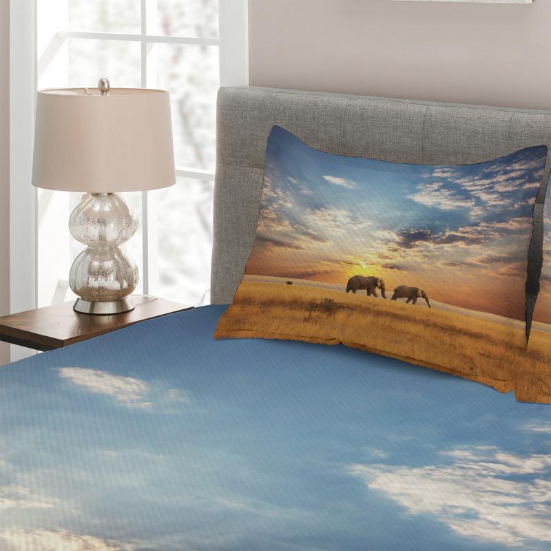 Elephants Untouched Land Bedspread Set
