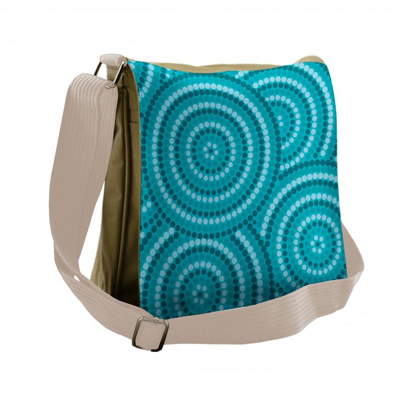 Abstract Australian Dots Messenger Bag