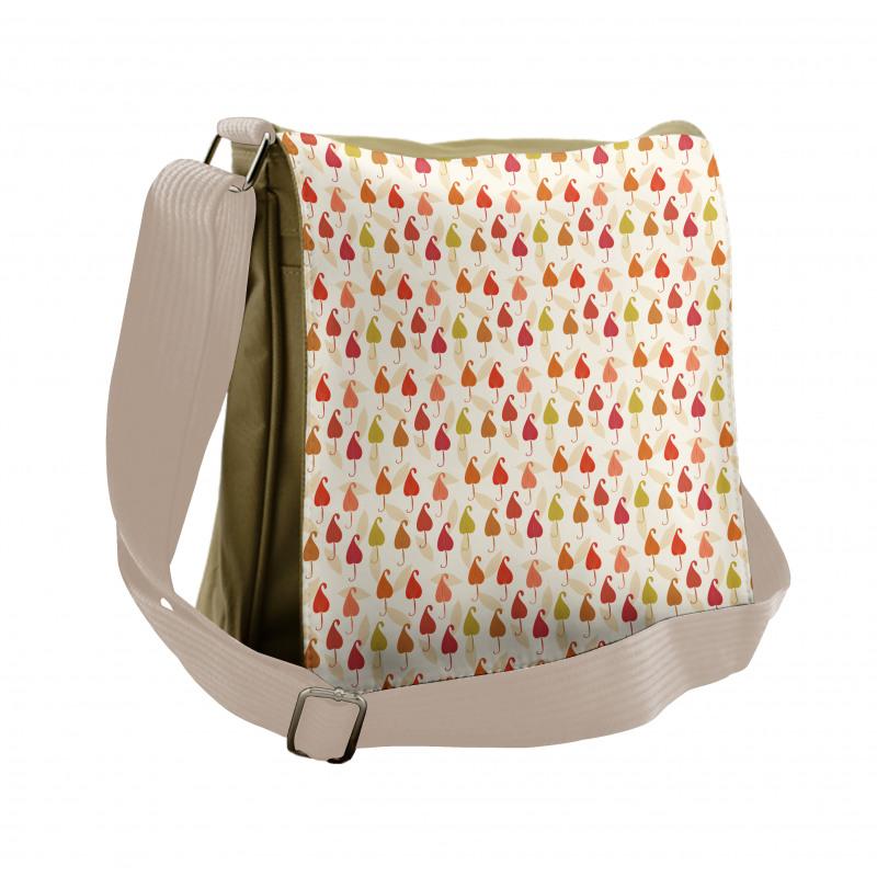 Abstract Autumn Leaf Art Messenger Bag