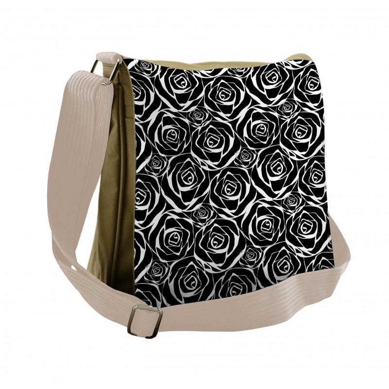 Abstract Art Rose Flowers Messenger Bag