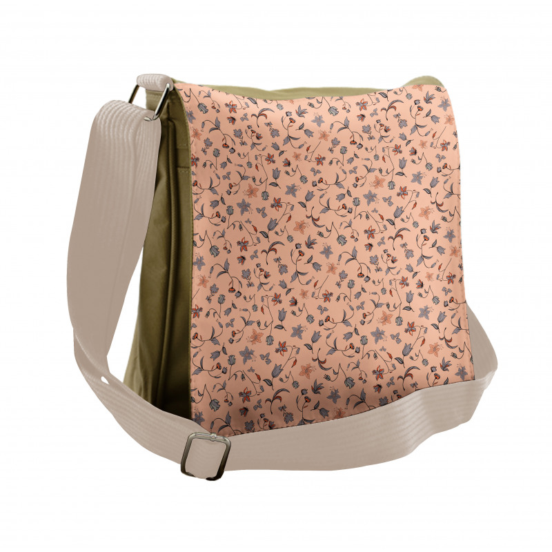 Abstract Autumn Botany Messenger Bag