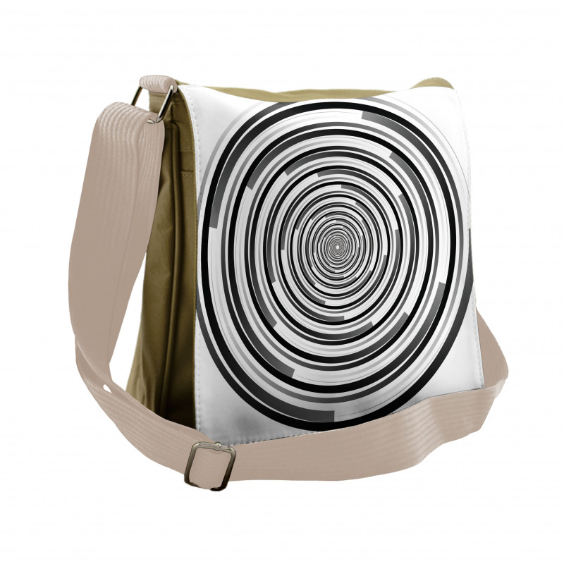 Abstract Art Spirals Messenger Bag