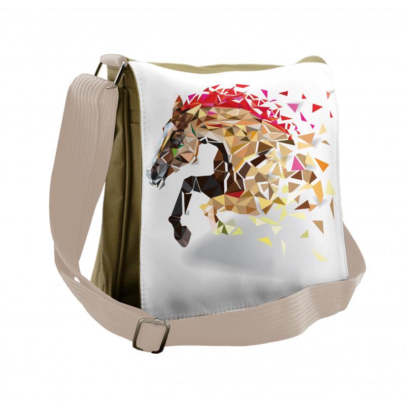 Abstract Art Wild Horse Messenger Bag