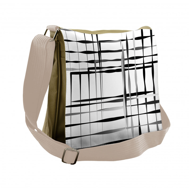 Abstract Art Geometric Messenger Bag