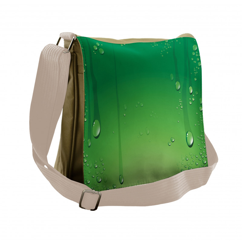 Abstract Art Water Drops Messenger Bag
