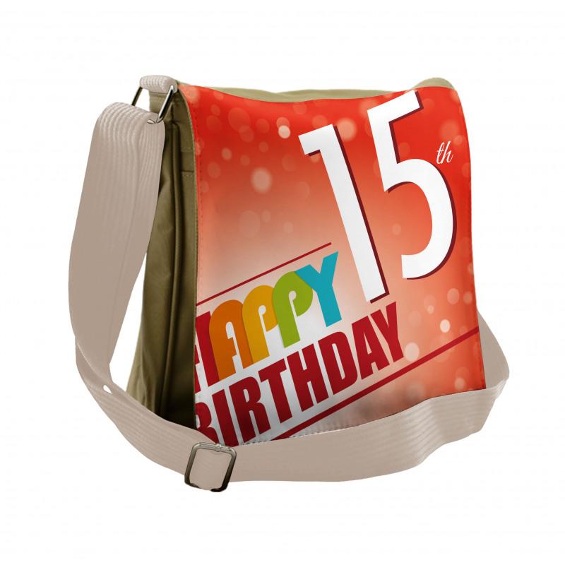 15th Birthday Concept Messenger Bag