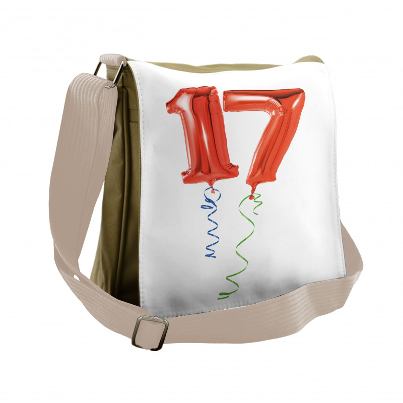 17 Party Red Balloons Messenger Bag