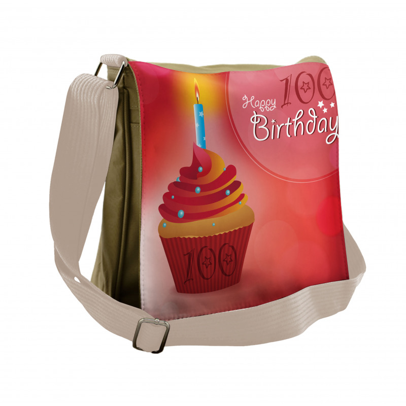 100 Old Cupcake Messenger Bag