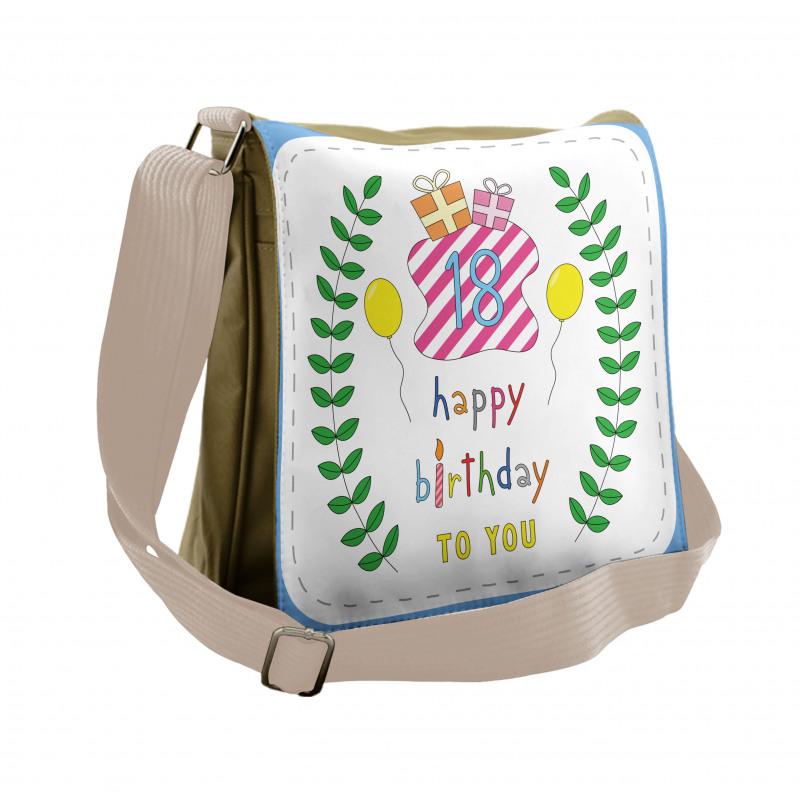 18 Birthday Messenger Bag