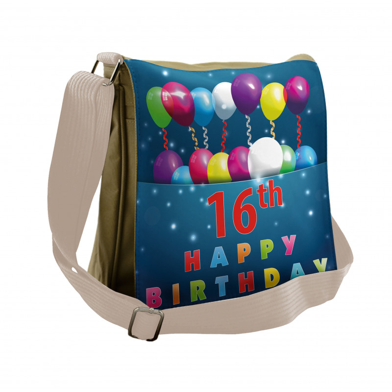 16 Party Messenger Bag