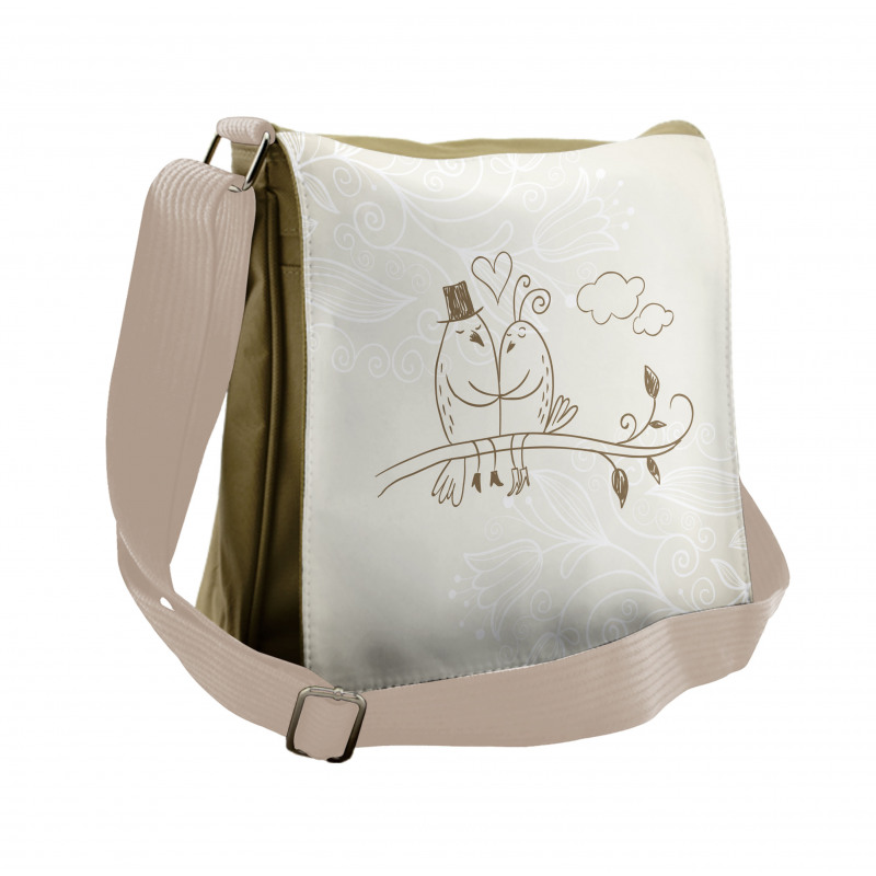 2 Birds Love Messenger Bag