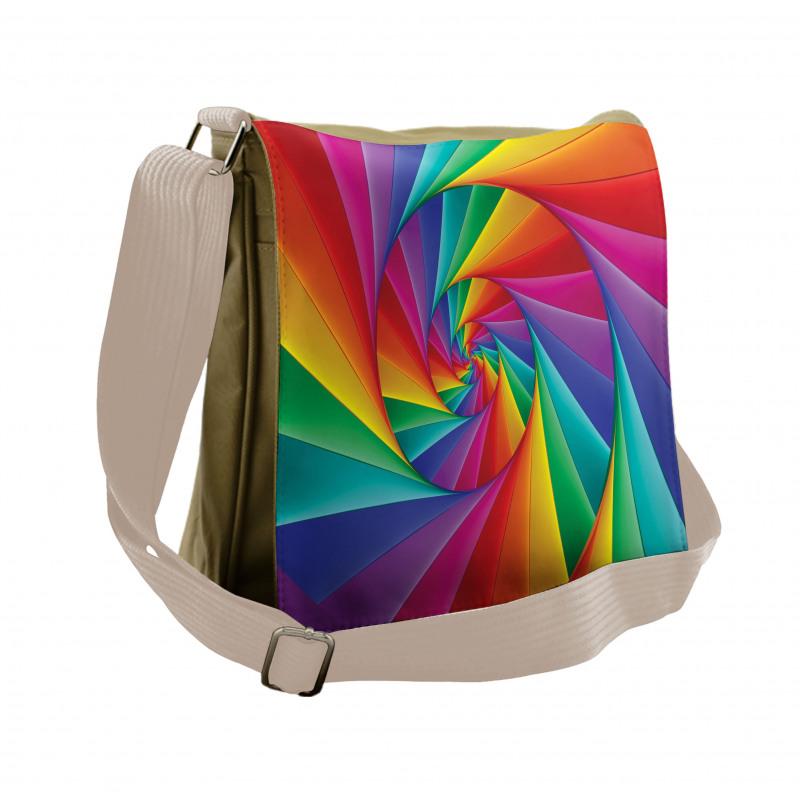 Abstract Art Vivid Swirl Messenger Bag