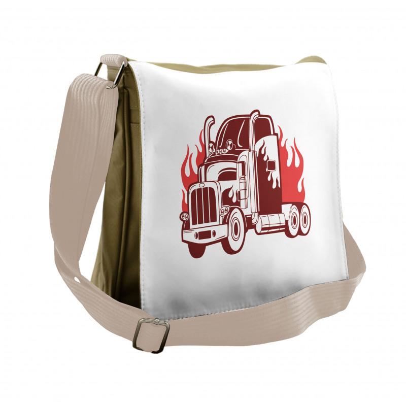 18 Wheeler Silhouette Messenger Bag