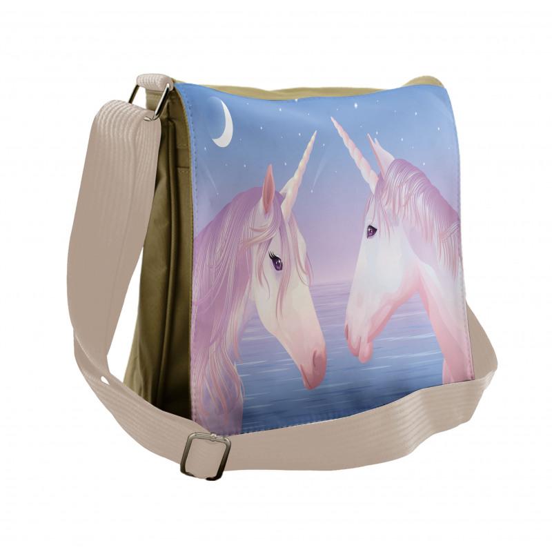 2 Akhal Teke Unicorns Messenger Bag