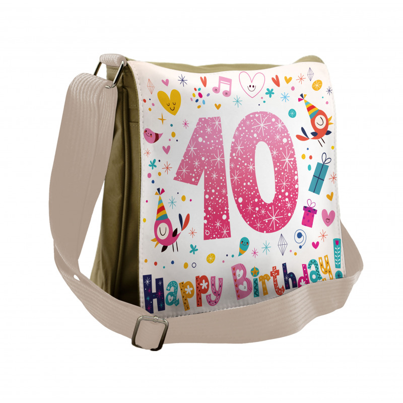 10 Years Kids Birthday Messenger Bag