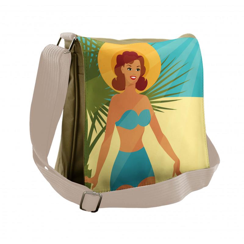 1950s Style Bikini Messenger Bag