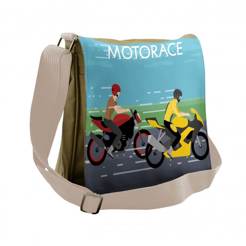 2 Bikers Racing Messenger Bag