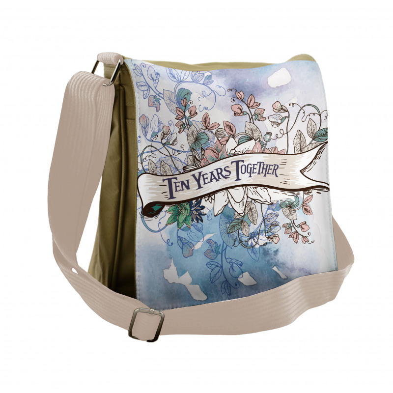 10 Years Floral Art Messenger Bag