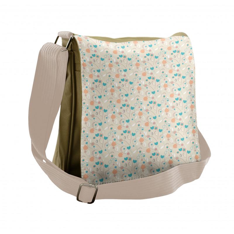 Abstract Art Floral Doodle Messenger Bag