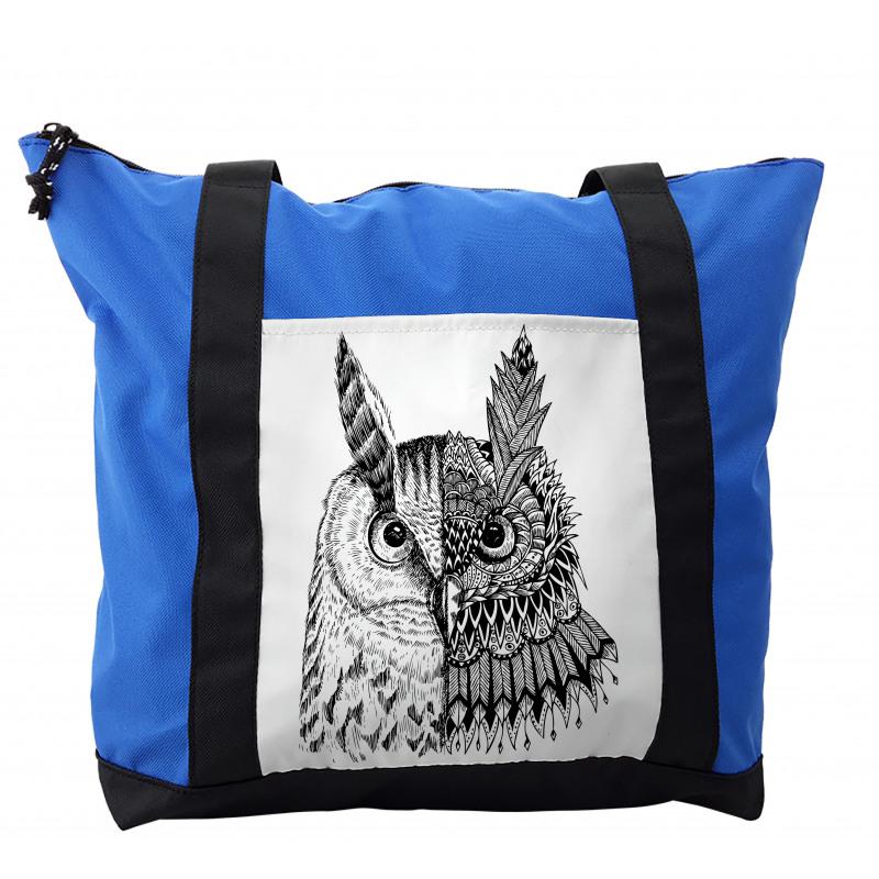 2 Animal Faces Design Shoulder Bag