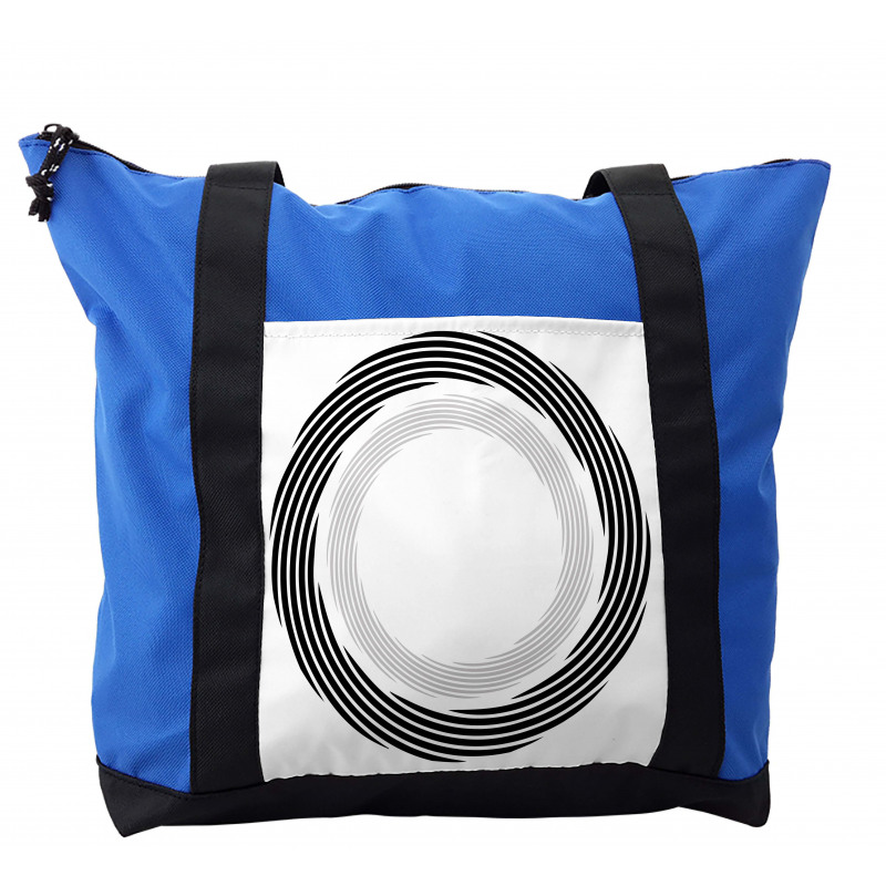 Abstract Art Theme White Shoulder Bag