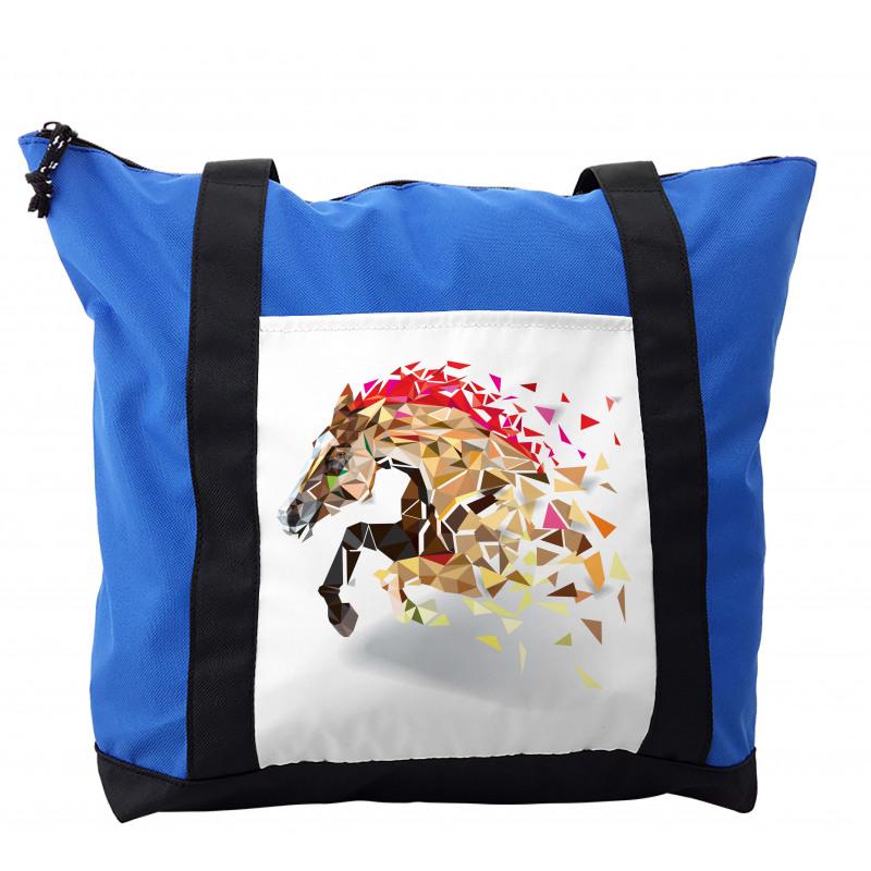 Abstract Art Wild Horse Shoulder Bag