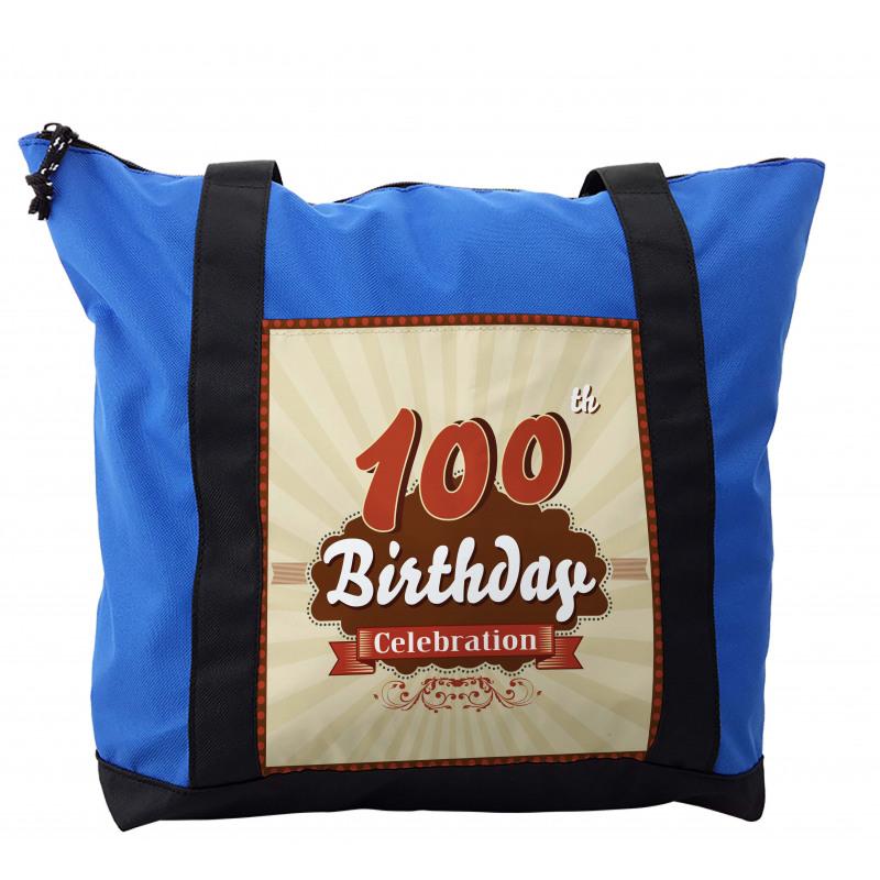 100 Old Party Invite Shoulder Bag