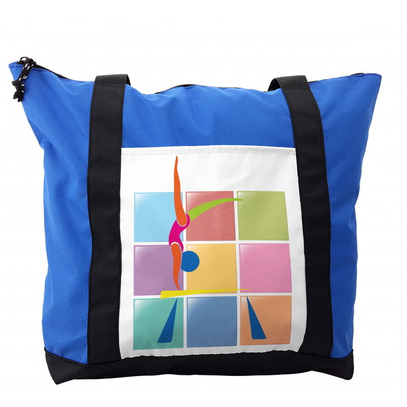 Abstract Athlete Shoulder Bag