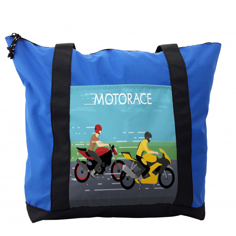 2 Bikers Racing Shoulder Bag