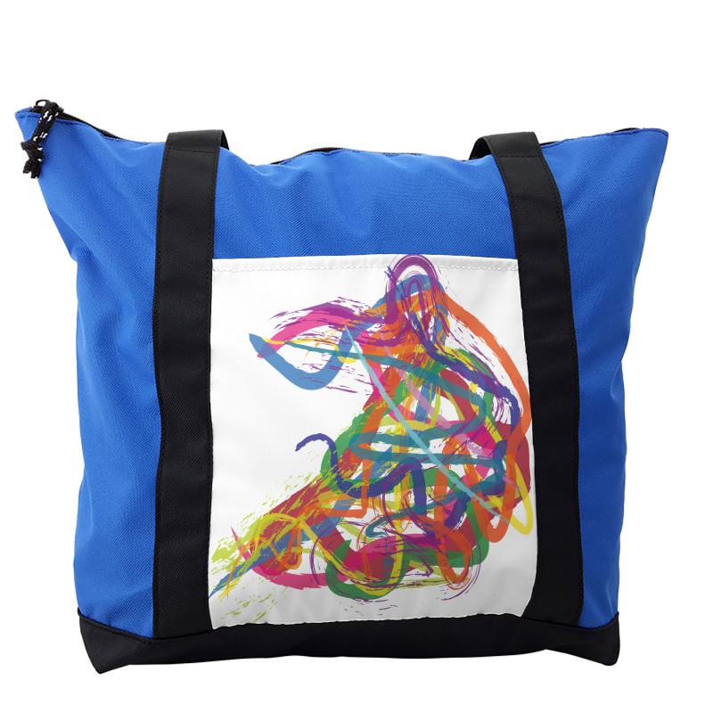Abstract Art Dancer Shoulder Bag