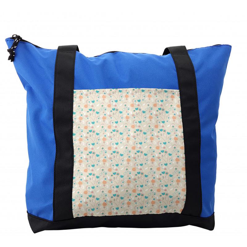 Abstract Art Floral Doodle Shoulder Bag