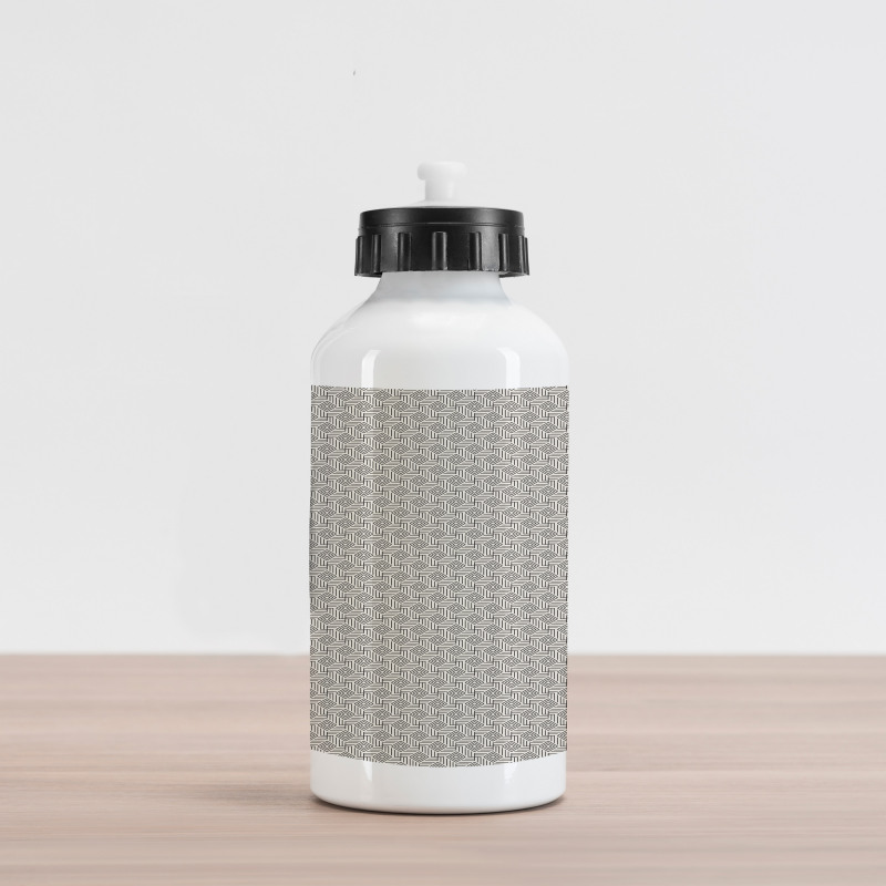 Abstract Art Grid Aluminum Water Bottle