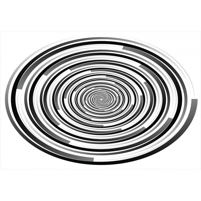 Abstract Art Spirals Aluminum Water Bottle