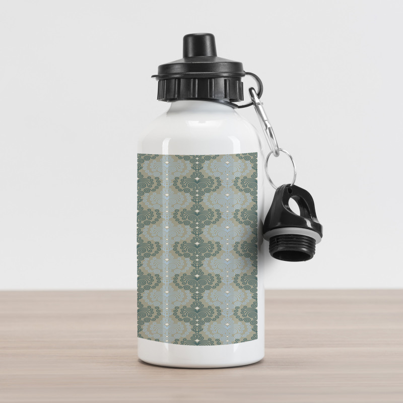 Abstract Art Floral Aluminum Water Bottle