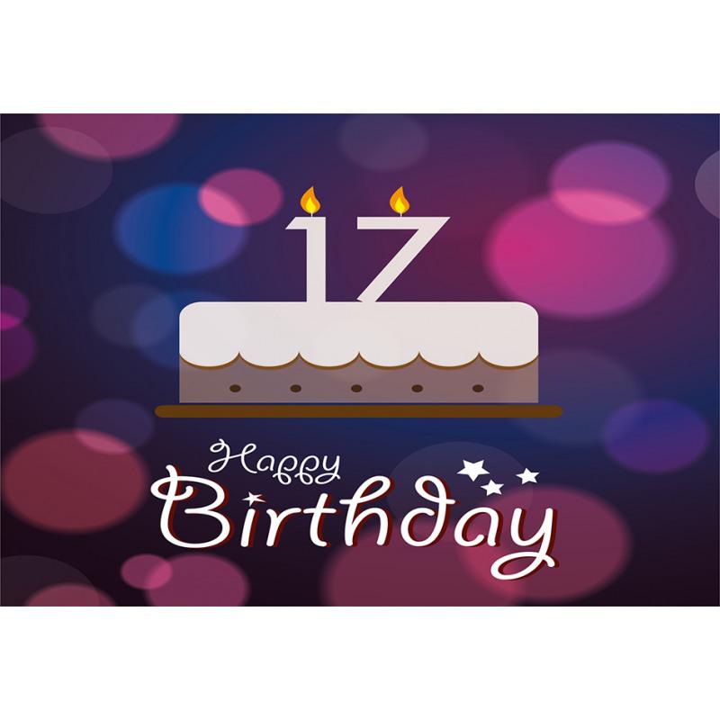 17 Party Cake Aluminum Water Bottle
