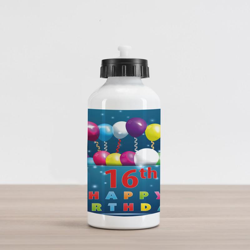16 Party Aluminum Water Bottle