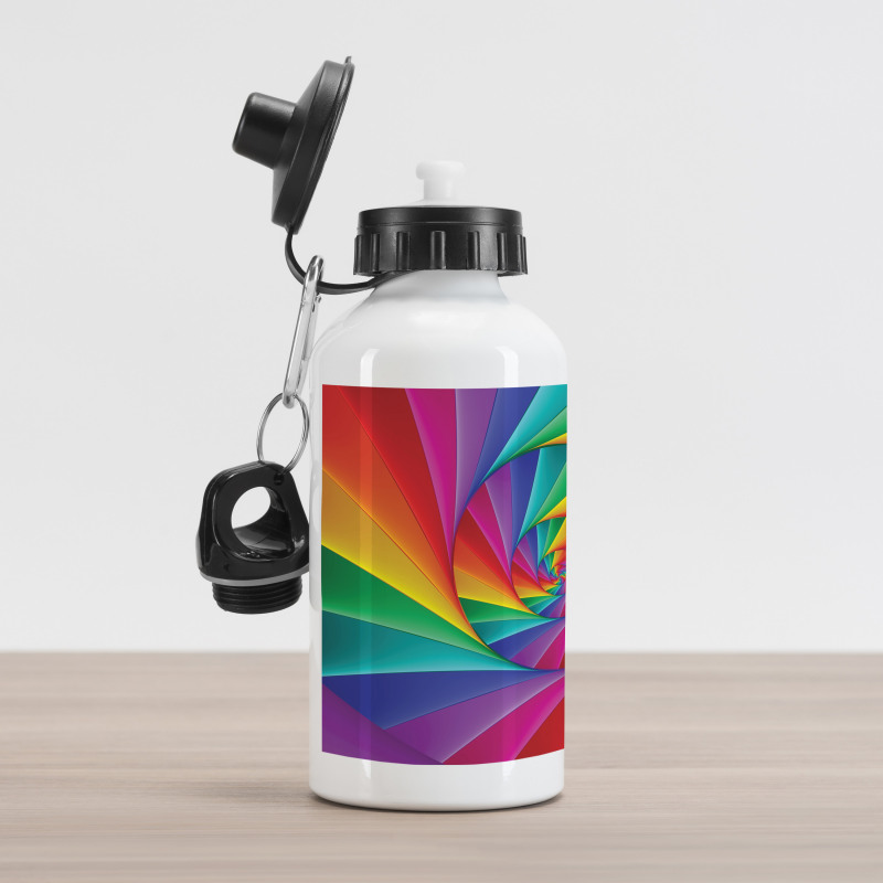 Abstract Art Vivid Swirl Aluminum Water Bottle