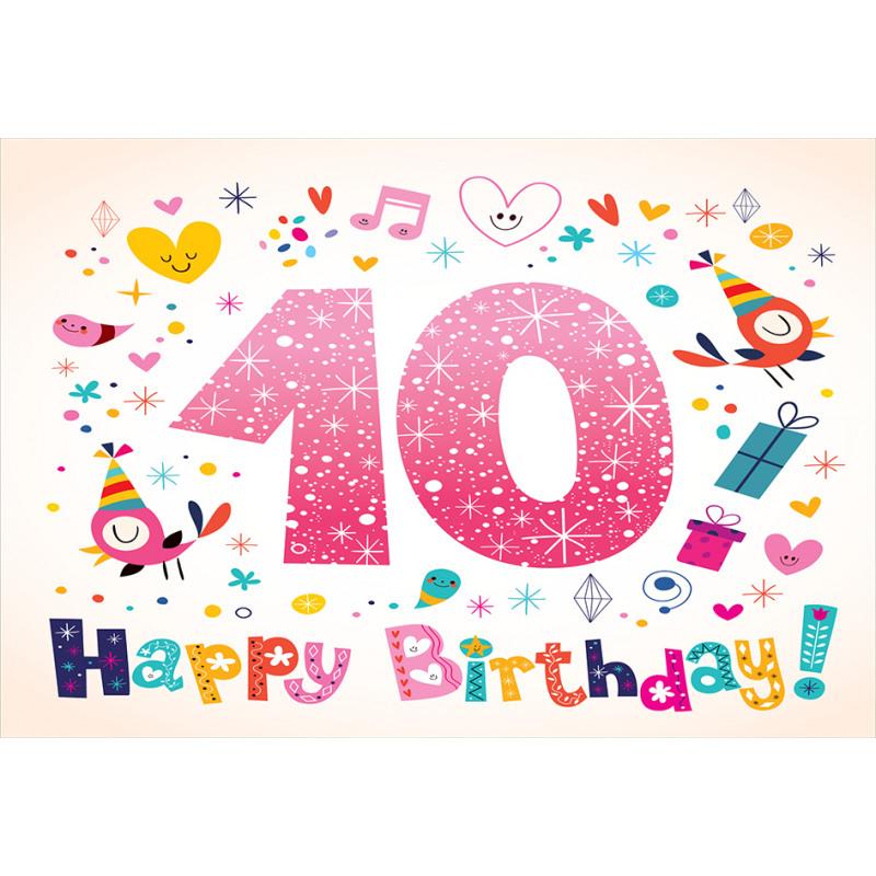 10 Years Kids Birthday Aluminum Water Bottle