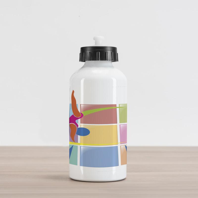 Abstract Athlete Aluminum Water Bottle
