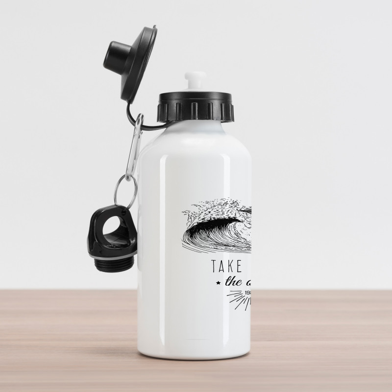 1986 Ocean Surf Waves Aluminum Water Bottle