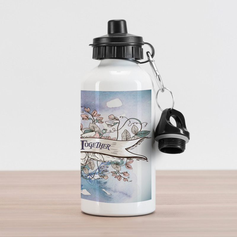 10 Years Floral Art Aluminum Water Bottle
