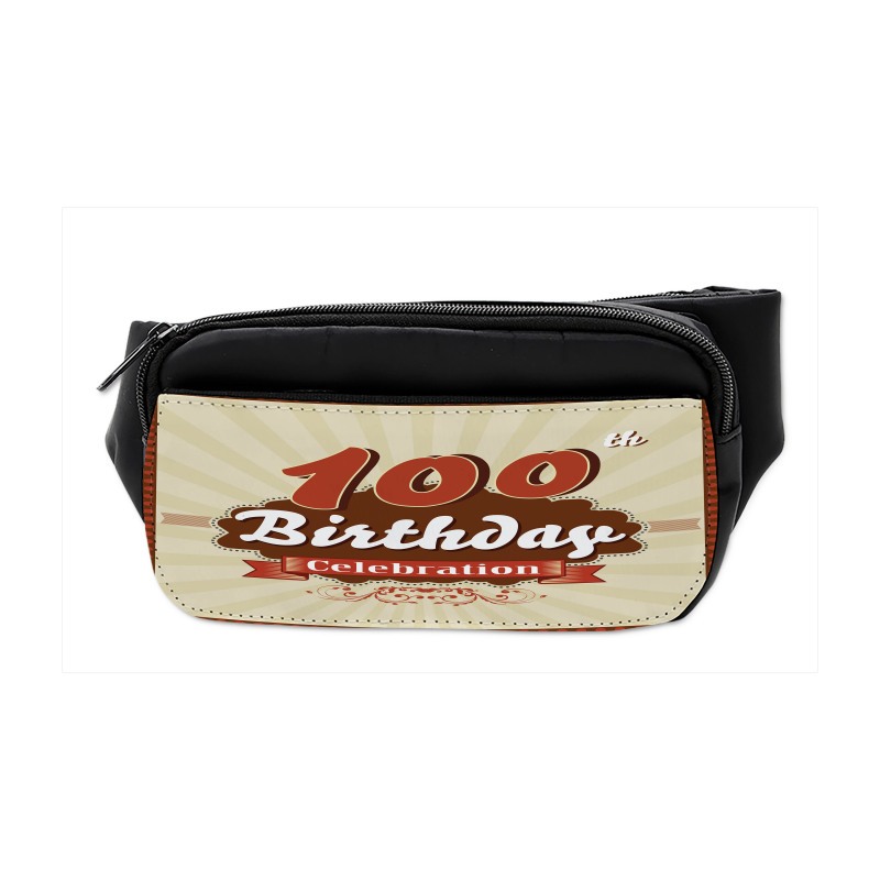 100 Old Party Invite Bumbag