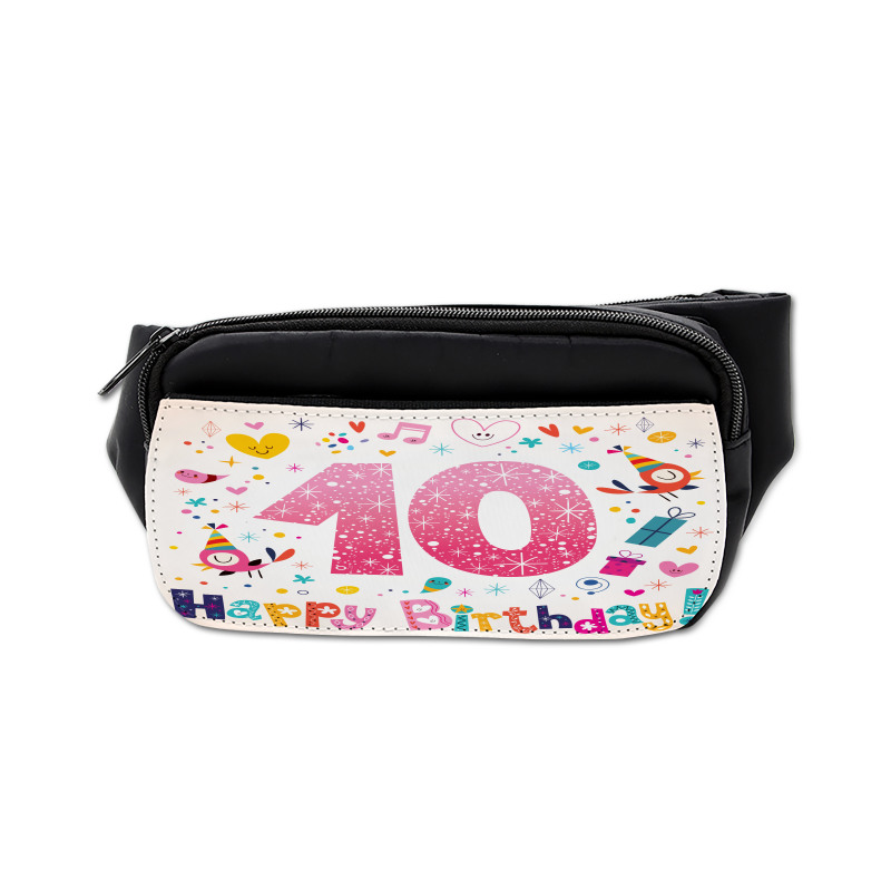 10 Years Kids Birthday Bumbag