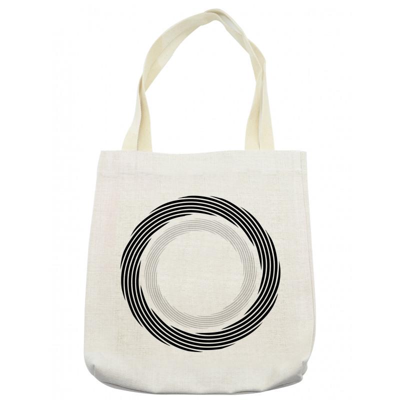 Abstract Art Theme White Tote Bag