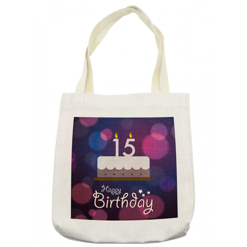 15 Birthday Cake Tote Bag