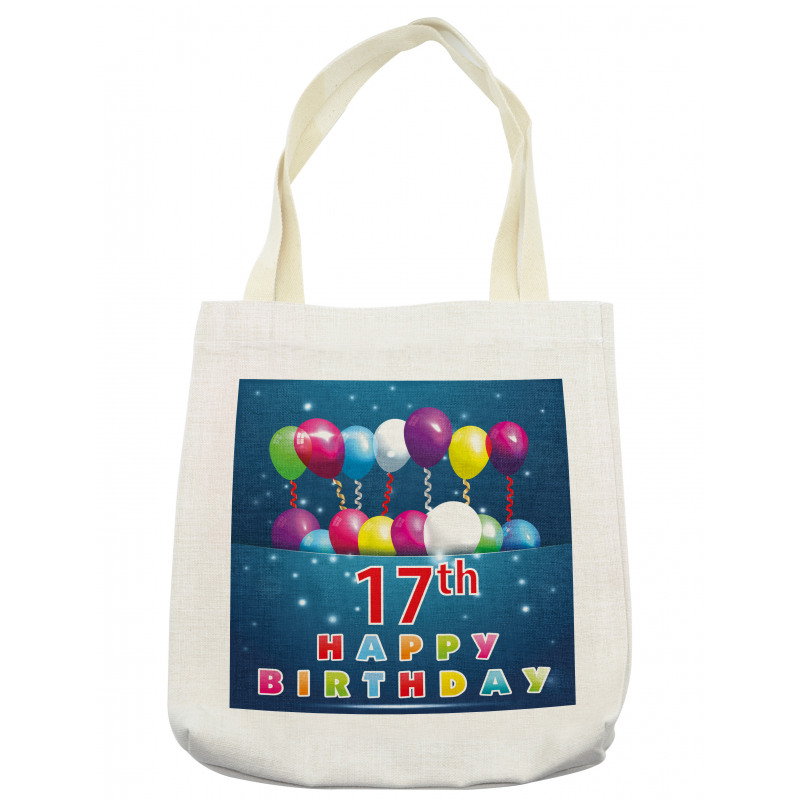 17 Birthday Tote Bag