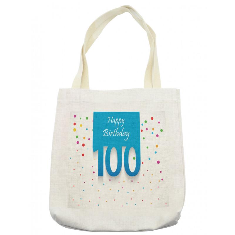 100 Years Birthday Tote Bag