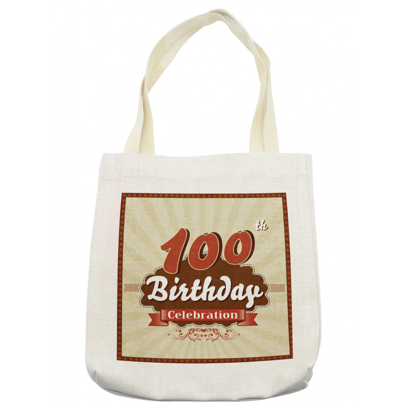 100 Old Party Invite Tote Bag