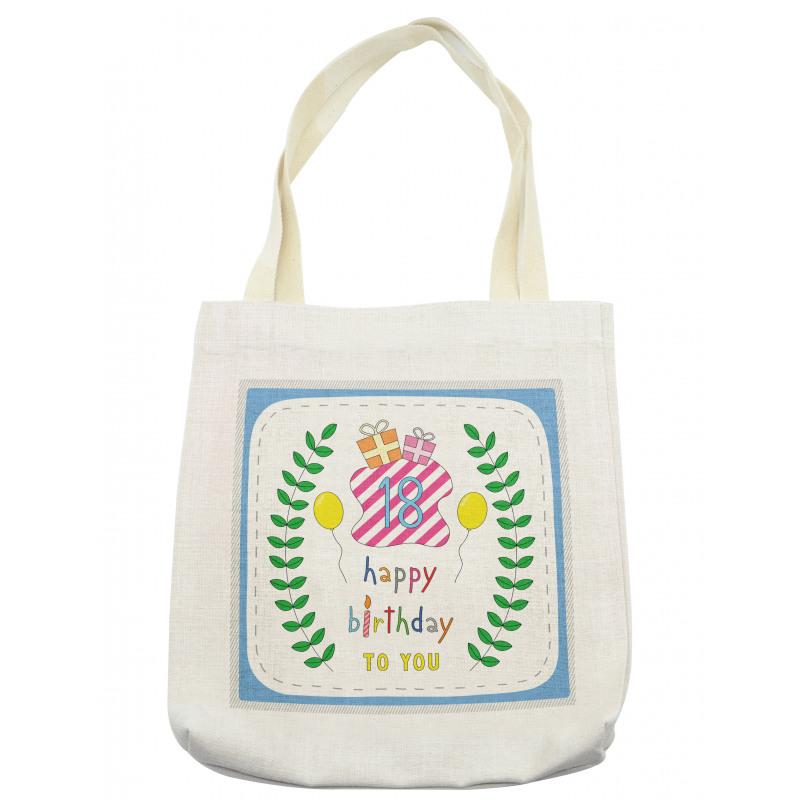 18 Birthday Tote Bag